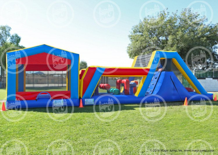 45 Bounce House Obstacle Course